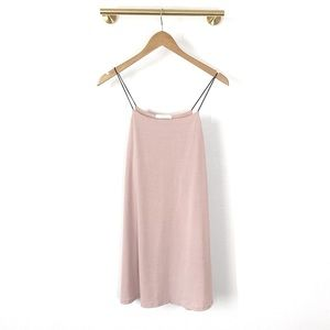 NWOT Lush Blush Pink Slip Mini Dress - Sz XS